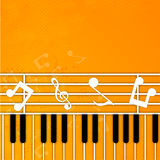 Musical instruemt with musical notes. Stock Photo