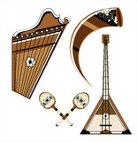 Musical instrument. On white background Royalty Free Stock Photos