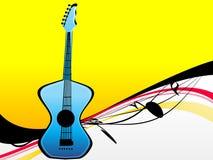 Musical instrument. On swirly background royalty free illustration