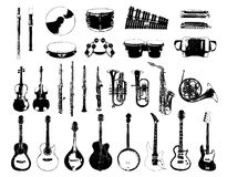 Musical Instrument. Vector Musical Instrument with White Background Stock Photography