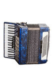 Musical instrument an accordion. Classic musical instrument an accordion, isolated on white background Royalty Free Stock Photo