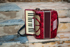 Musical instrument accordion Stock Photo