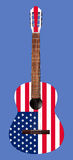 Musical instrument - Acoustic guitar with the image of a flag of Stock Photo