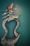 Musical instrument  art statue Stock Photos