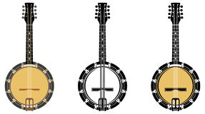 Musical Instrument  Banjo. Set From A Musical Instrument  Banjo Stock Photo