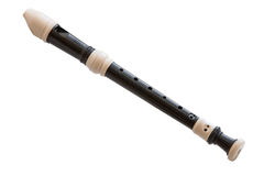 Musical instrument is the block flute Stock Photos