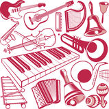 Musical Instrument Collection Royalty Free Stock Photography
