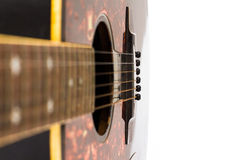 Guitar on white. Guitar isolated on white Stock Photo