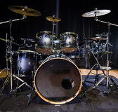 Musical instrument, Drum Kit on the stage Stock Images