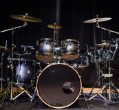 Musical instrument, Drum Kit on the stage Stock Photos