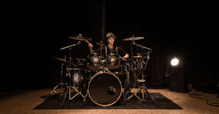 Musical instrument, Drum Kit on the stage Royalty Free Stock Images