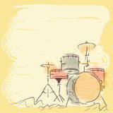 Musical instrument drum set. Stock Photography