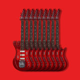 Musical instrument - Electric guitars on a red background Stock Photography