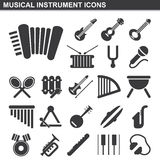 Musical instrument icons set. Illustration of musical instrument icons set Royalty Free Stock Photography