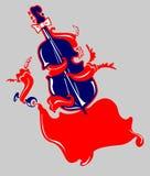 Musical instrument jazz bass Stock Photography