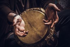 Musical instrument jembe Stock Photo