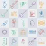 Musical instrument line vector icon Royalty Free Stock Images