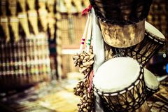 Musical instrument in local market in Peru. Royalty Free Stock Photography