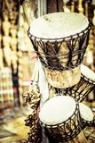 Musical instrument in local market in Peru. Royalty Free Stock Photos