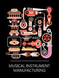 Musical Instrument Manufacturing Royalty Free Stock Photo