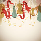 Musical instrument with musical notes. Stock Photography