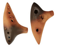 Musical instrument ocarina Stock Photo