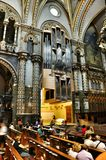 Musical instrument organ in Cathedral Black Madonna Royalty Free Stock Image