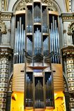Musical instrument organ in Cathedral Black Madonna Stock Image