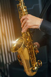Musical instrument sax close-up Royalty Free Stock Image