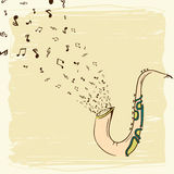 Musical instrument saxophone. Stock Image