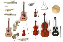 Musical instrument set Royalty Free Stock Images