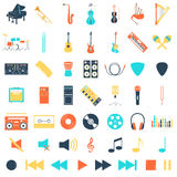 Musical instrument set Stock Photography