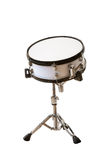 Musical instrument snare drum. Classic musical instrument snare drum isolated on white background Stock Image