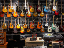 Musical instrument store Stock Images