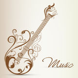 Musical instrument with stylish text. Stock Images