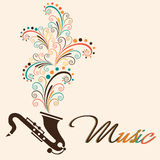 Musical instrument with stylish text. Royalty Free Stock Image