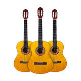 Musical instrument - Three Classic guitar. Isolated Royalty Free Stock Photos