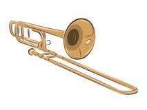 Musical instrument trombone illustration. Musical instrument trombone isolated on white, vector illustration vector illustration