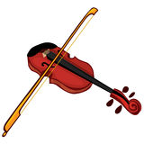 Musical instrument violin Royalty Free Stock Image
