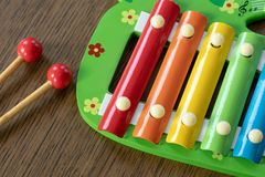 Musical instrument xylophone. Stock Photography