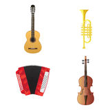 Musical Instruments. The illustration of musical instruments Stock Image