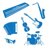 Musical instruments. Vector illustration of Musical Instruments Stock Photos