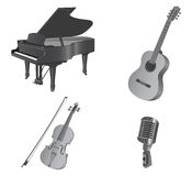 Musical instruments. Royalty Free Stock Photography