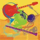 Musical Instruments. Vector illustration of musical instruments Stock Image