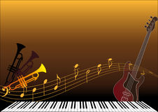 Musical instruments stock illustration