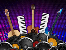 Musical Instruments Background Stock Images