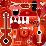 Musical Instruments and Cocktails Stock Images