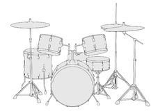 Musical instruments - drum set Royalty Free Stock Photos