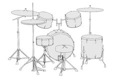 Musical instruments - drum set Royalty Free Stock Photography