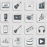 Musical instruments. Flat design Royalty Free Stock Photography